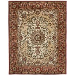 Safavieh Handmade Persian Legend Red/ Ivory Wool Rug (7'6 x 9'6)