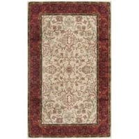 Safavieh Handmade Persian Legend Ivory/ Rust Wool Rug - 3' x 5'