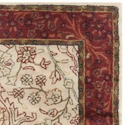 Safavieh Handmade Persian Legend Traditional Ivory/Rust Wool Rug (4' x 6') - Thumbnail 1