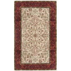 Safavieh Handmade Persian Legend Traditional Ivory/Rust Wool Rug - 4' x 6' - Thumbnail 0