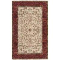 Safavieh Handmade Persian Legend Traditional Ivory/Rust Wool Rug - 4' x 6'