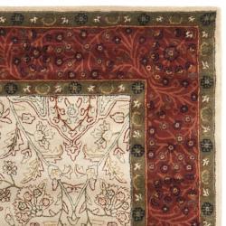 Safavieh Handmade Persian Ivory/ Rust Oriental Wool Rug (7'6 x 9'6) - Thumbnail 1