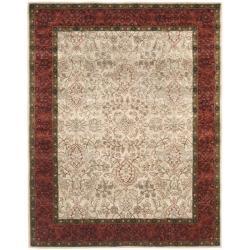 Safavieh Handmade Persian Ivory/ Rust Oriental Wool Rug - 7'6 x 9'6 - Thumbnail 0