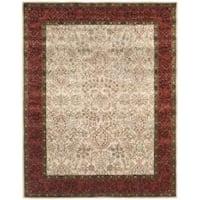 Safavieh Handmade Persian Ivory/ Rust Oriental Wool Rug - 7'6 x 9'6