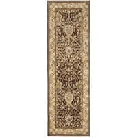 "Safavieh Handmade Persian Legend Brown/ Beige Wool Rug - 2'6"" x 12'"