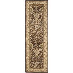 """Safavieh Handmade Persian Legend Brown/ Beige Wool Rug - 2'6"""" x 8'"""