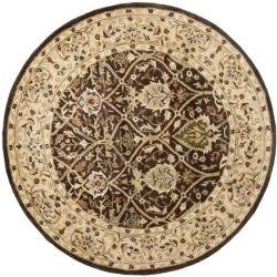 Safavieh Handmade Persian Legend Brown/ Beige Wool Rug (6' Round)