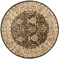 Safavieh Handmade Persian Legend Brown/ Beige Wool Rug - 6' x 6' Round