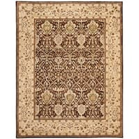 "Safavieh Handmade Persian Legend Brown/ Beige Wool Rug - 7'6"" x 9'6"""