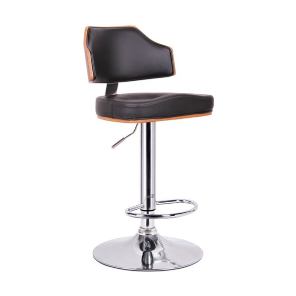 Modern Brown And Black 26 34 Quot Adjustable Bar Stool By