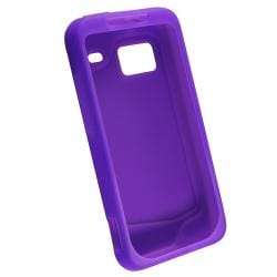 BasAcc Pink/ Purple Silicone Skin Case for HTC Droid Incredible (Pack of 2)