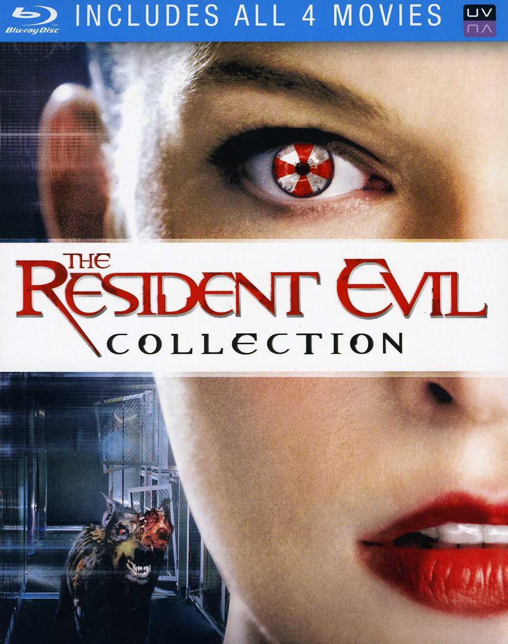 Resident Evil/Resident Evil: Afterlife/Resident Evil: Apocalypse/Resident Evil: Extinction (Blu-ray Disc)