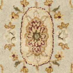 Safavieh Handmade Oasis Light Blue/ Ivory Hand-spun Wool Rug (2' x 3') - Thumbnail 2