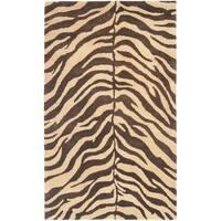 Safavieh Handmade Zebra Beige Hand-spun Wool Rug - 3' x 5'