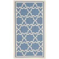 Safavieh Courtyard Poolside Blue/ Beige Indoor/ Outdoor Rug - 2' x 3'7'