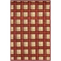 Safavieh Hand-knotted Lexington Plaid Red Wool Rug - multi - 4' x 6'