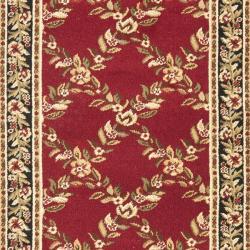 Safavieh Lyndhurst Traditional Floral Trellis Red/ Black Rug (2'3 x 12') - Thumbnail 2