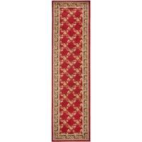"Safavieh Lyndhurst Traditional Floral Trellis Red/ Black Rug - 2'3"" x 12' Runner"