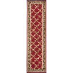 Safavieh Lyndhurst Traditional Floral Trellis Red/ Black Rug (2'3 x 16')