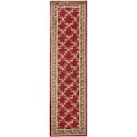 "Safavieh Lyndhurst Traditional Floral Trellis Red/ Black Rug - 2'3"" x 16'"