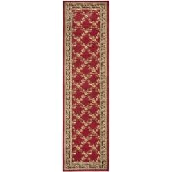 Safavieh Lyndhurst Traditional Floral Trellis Red/ Black Rug (2'3 x 8')
