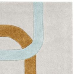 Safavieh Handmade Modern Art Deco Grey/ Multicolored Polyester Rug (2'6 x 4')