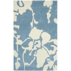 Safavieh Handmade Modern Art Summer Blue/ Ivory Polyester Rug (2'6 x 4')