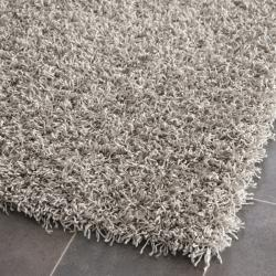 Safavieh Handmade Monterey Shag Silver Polyester Area Rug (3' x 5')