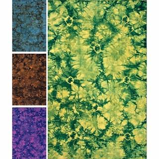 nuLOOM Handmade Flatweave Tie Dye Kilim Wool Rug (8' x 10')