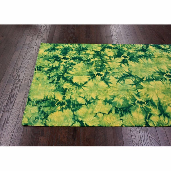 nuLOOM Handmade Flatweave Tie Dye Kilim Wool Rug (8' x 10') - 8' x 10'