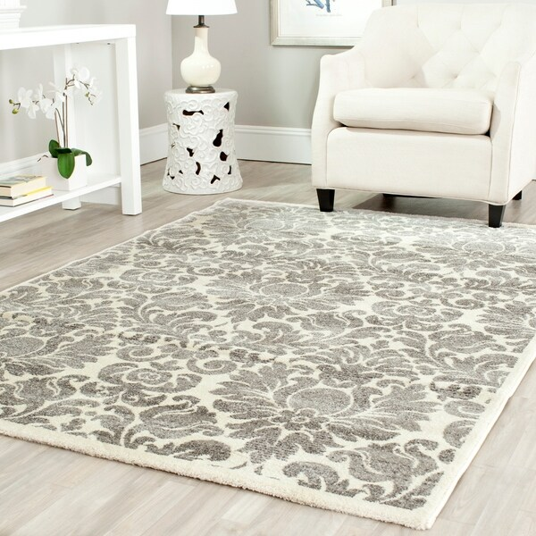 Safavieh Porcello Glam Damask Grey/ Ivory Rug - 8' x 11'2