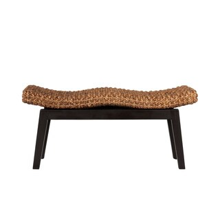 Decorative Brown Rustic Transitional Sanibel Double Bench