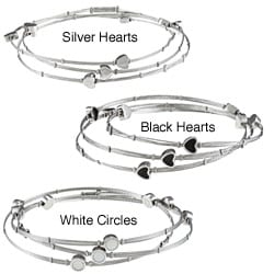 La Preciosa Stainless Steel Interlocking Triple Bangle Bracelet