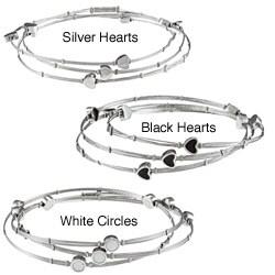 La Preciosa Stainless Steel Interlocking Triple Bangle Bracelet