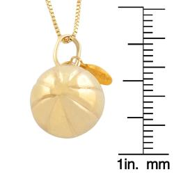 Fremada 14k Yellow Gold Basketball Pendant Goldfill Box Chain - Thumbnail 2