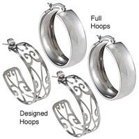 La Preciosa Stainless Steel Hoop Earrings
