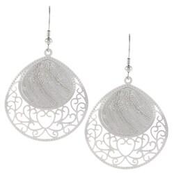 La Preciosa Stainless Steel Designed Dangle Earrings