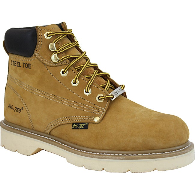 AdTec Men's Tan 6-inch Steel Toe Nubuck Hiker Boots