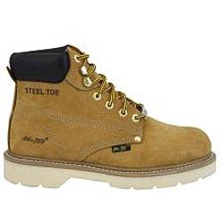 AdTec Men's Tan 6-inch Steel Toe Nubuck Hiker Boots - Thumbnail 1