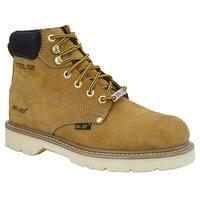 AdTec Men's Tan 6-inch Steel Toe Nubuck Hiker Boots