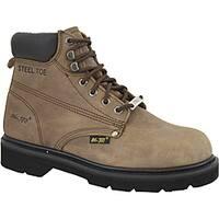 """AdTec Men's 6"""" Steel Toe Work Boot Brown"""