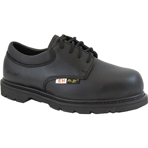 AdTec Men's Composite Toe Electrical Hazard Uniform Black Oxford Work Boots