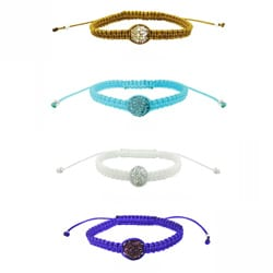Icz Stonez Crystal Fireball Macrame Bracelet