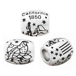 De Buman High-polish Sterling Silver US 50 States Charm Bead|https://ak1.ostkcdn.com/images/products/6852051/P14377608.jpg?_ostk_perf_=percv&impolicy=medium