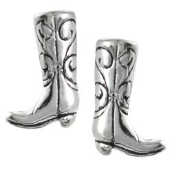 Journee Collection Sterling Silver Cowboy Boot Stud Earrings ...