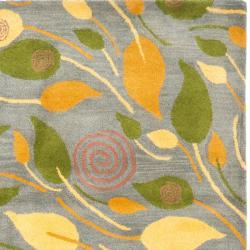 Safavieh Handmade Foliage Grey New Zealand Wool Rug (3'6 x 5'6') - Thumbnail 1