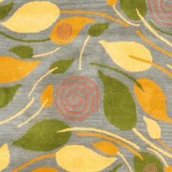 Safavieh Handmade Foliage Grey New Zealand Wool Rug (3'6 x 5'6') - Thumbnail 2