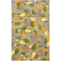 Safavieh Handmade Foliage Grey New Zealand Wool Rug - 3'6' x 5'6'