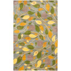 Safavieh Handmade Foliage Grey New Zealand Wool Rug (5'x 8')