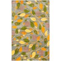 "Safavieh Handmade Foliage Grey New Zealand Wool Rug - 7'6"" x 9'6"""